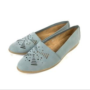 A2 by Aerosoles Pointed Toe blue loafer flats